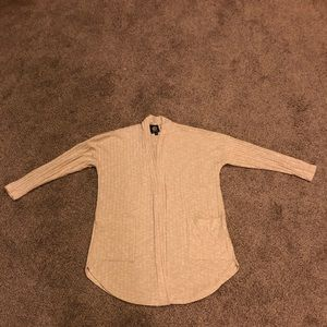Light tan soft light weight cardigan sweater